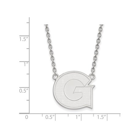 Georgetown University Hoyas Large Pendant Necklace in Sterling Silver 6.42 gr