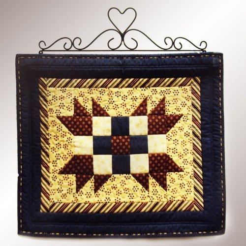 J & J Wire Heart Quilt Rack