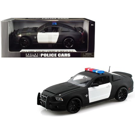 2012 Ford Shelby Mustang GT500 Super Snake Unmarked Police Car Black/White 1/18 Diecast Model Car by Shelby (Ford Mustang Gt500 Shelby Super Snake Specs)