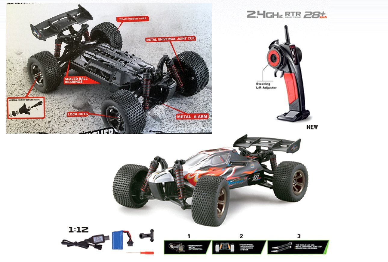FMT 1 12 Scale Offroad High Speed Radio Remote Controlled Off-Road Buggy RC 2.4Ghz 2WD 20Mph+ Car Truck Buggy... by