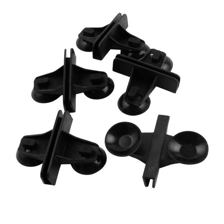 Unique Bargains Aquarium Fish Tank Plastic Suction Cup Divider Sheet Holder Black 5pcs (Fish Tank Fry Holder)