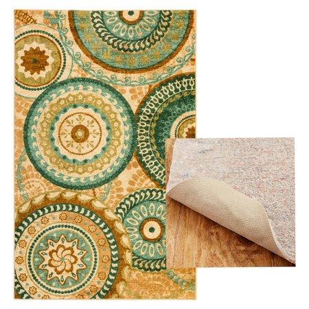 Mohawk Home Suzani Blue Printed Area Rug Carpet Vidalondon