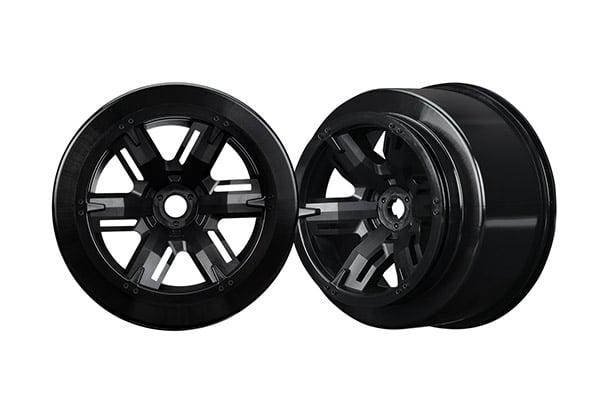 Traxxas TRA7771 Left & Right X-Maxx Wheels Black by TRAXXAS