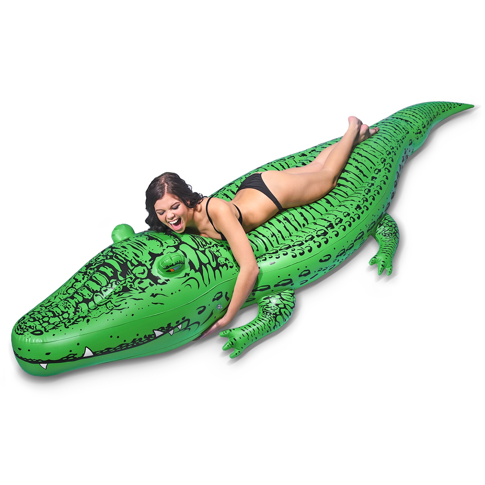 GoFloats Giant Inflatable Gator Pool Float Lounger, Premium Quality and Over 11' Long, for Adults and Kids