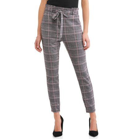 Women's Knit Paperbag Waist Self Tie Pant ()
