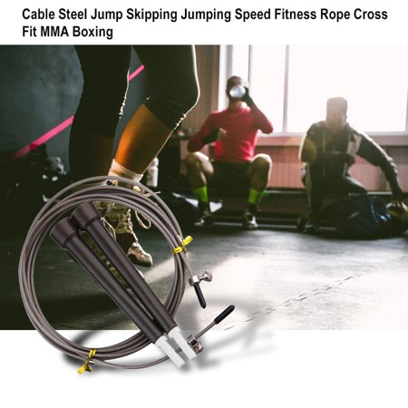 HC-TOP Cable Steel Jump Skipping Jumping Speed Fitness Rope Cross Fit MMA Boxing - image 5 of 7