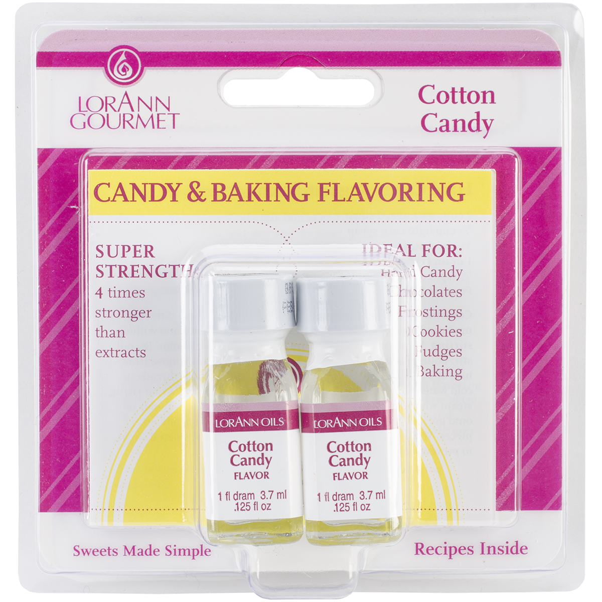 Candy & Baking Flavoring .125oz Bottle 2/Pkg-Cotton Candy