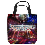 Saturday Night Fever Dance Floor Tote Bag White 18X18