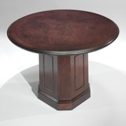 DMi Furniture Oxmoor Round 3.5' Conference Table in Merlot Cherry