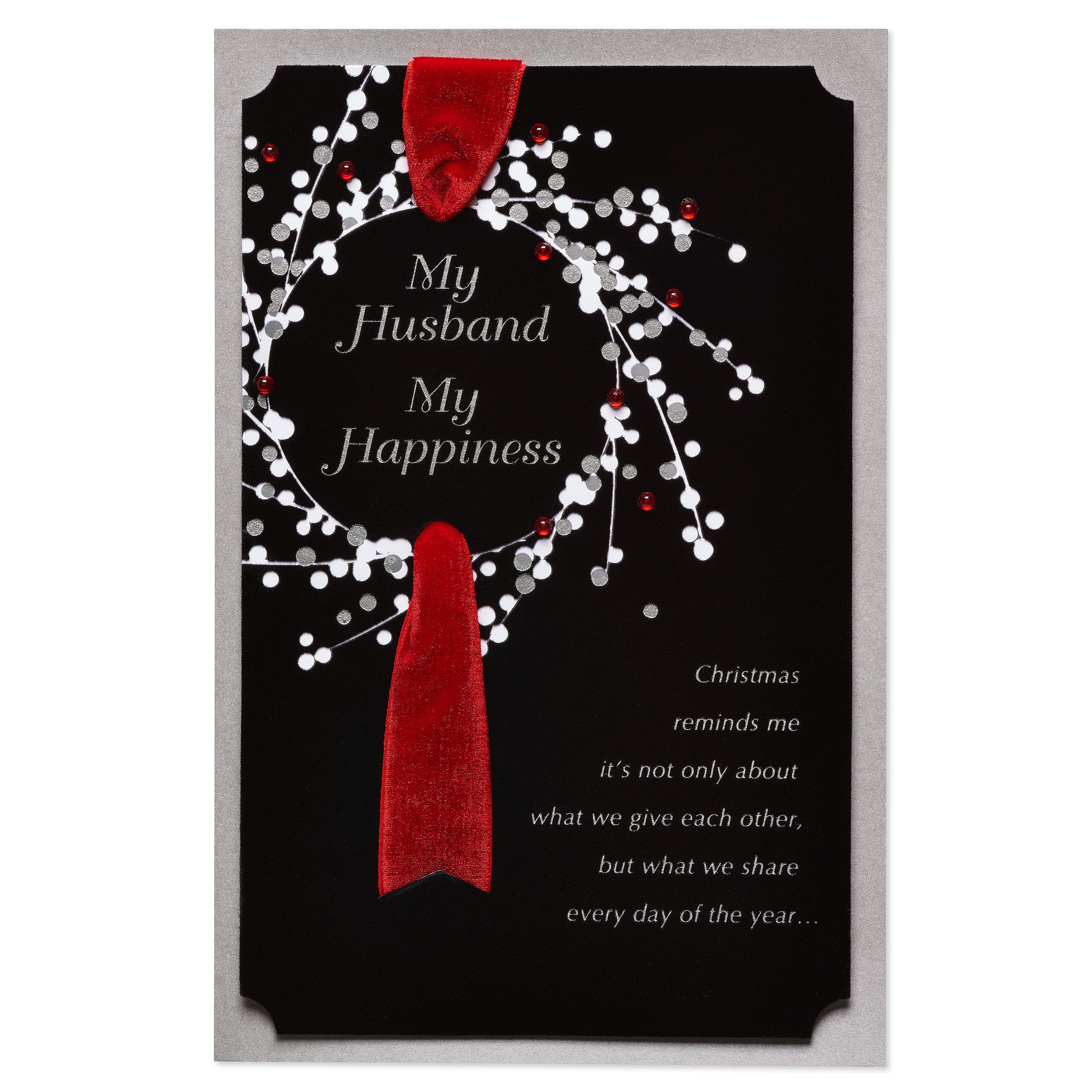 AMERICAN GREETINGS® My Happiness Christmas Card for Husband with Foil