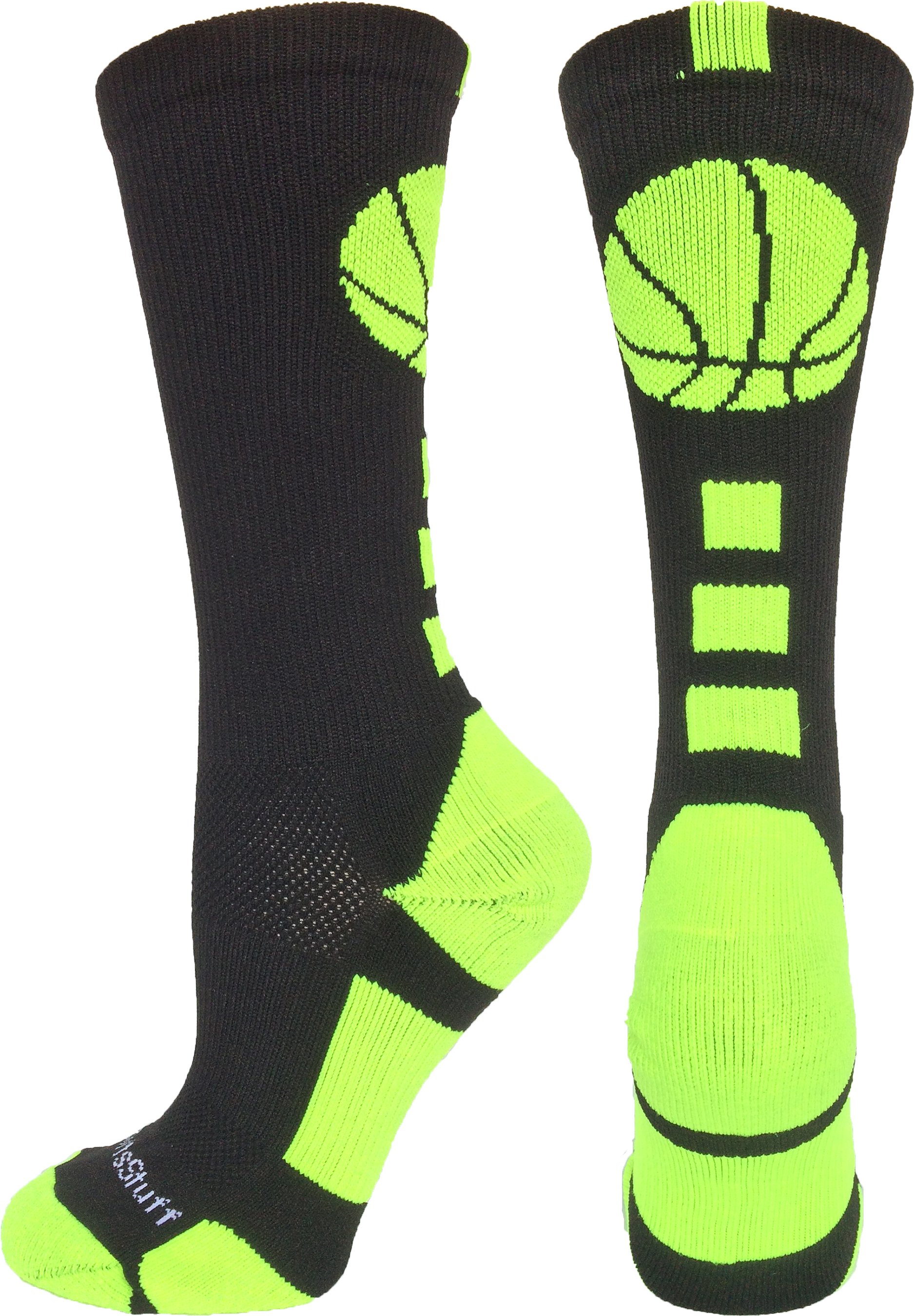 Basketball Logo Crew Socks (Royal/Gold, Large) - Royal/Gold,Large