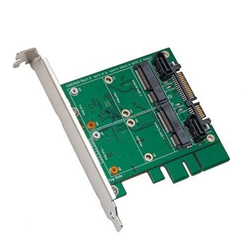 3.5IN SATA III TO DUAL MSATA RAID ADAPTER