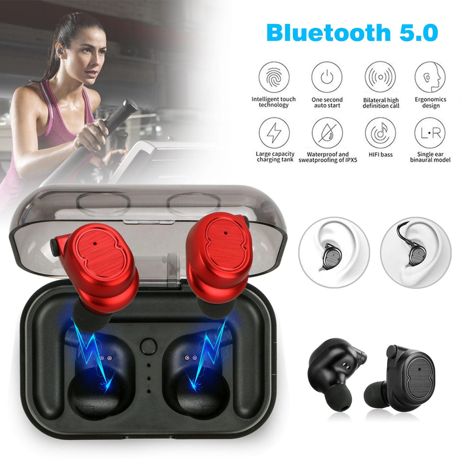 Wireless Earbuds, EEEKit Mini True Wireless Bluetooth 5.0 Earbud Sweatproof In-Ear HD Sound Headphone Touch Control Earphone Headset with Portable 500mAh Charging Case