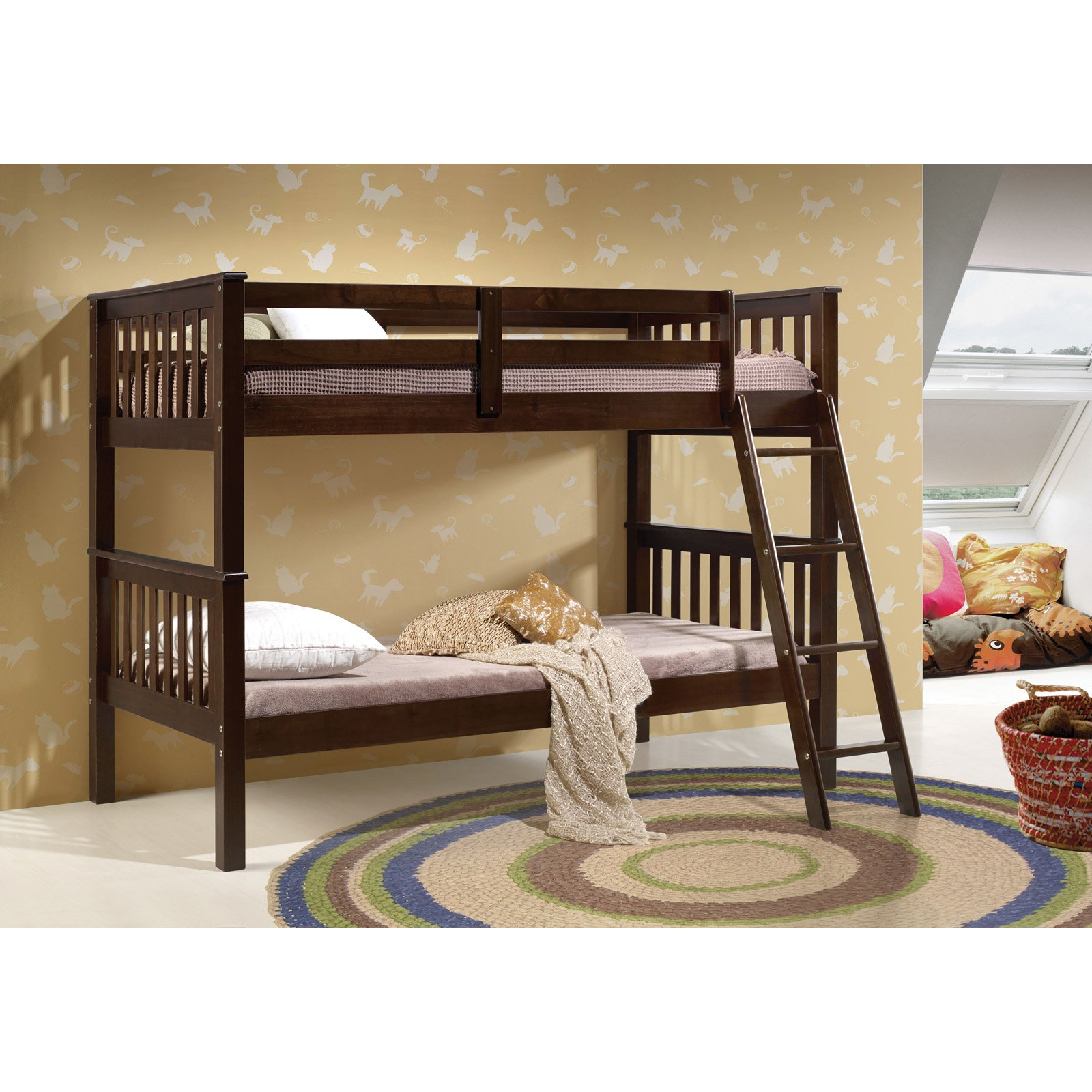 Acme Furniture Searra Twin Over Twin Bunk Bed Espresso by Acme Furniture