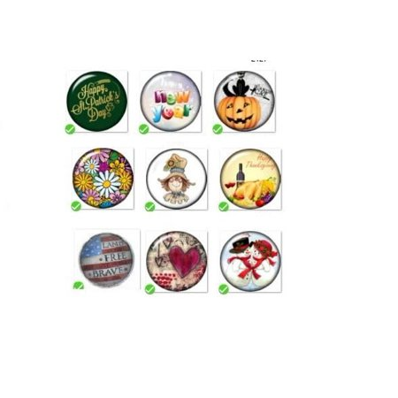 Snap Button 18mm 9   Holiday Charm Collection Collection Christmas Hallloween (Prairie Charm Collection)