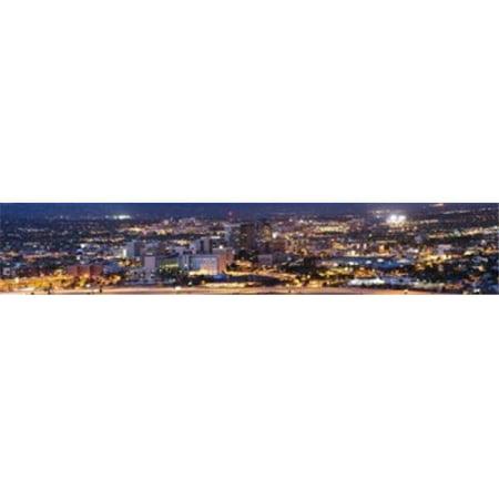 City lit up at night  Tucson  Pima County  Arizona  USA Poster Print by  - 36 x 12