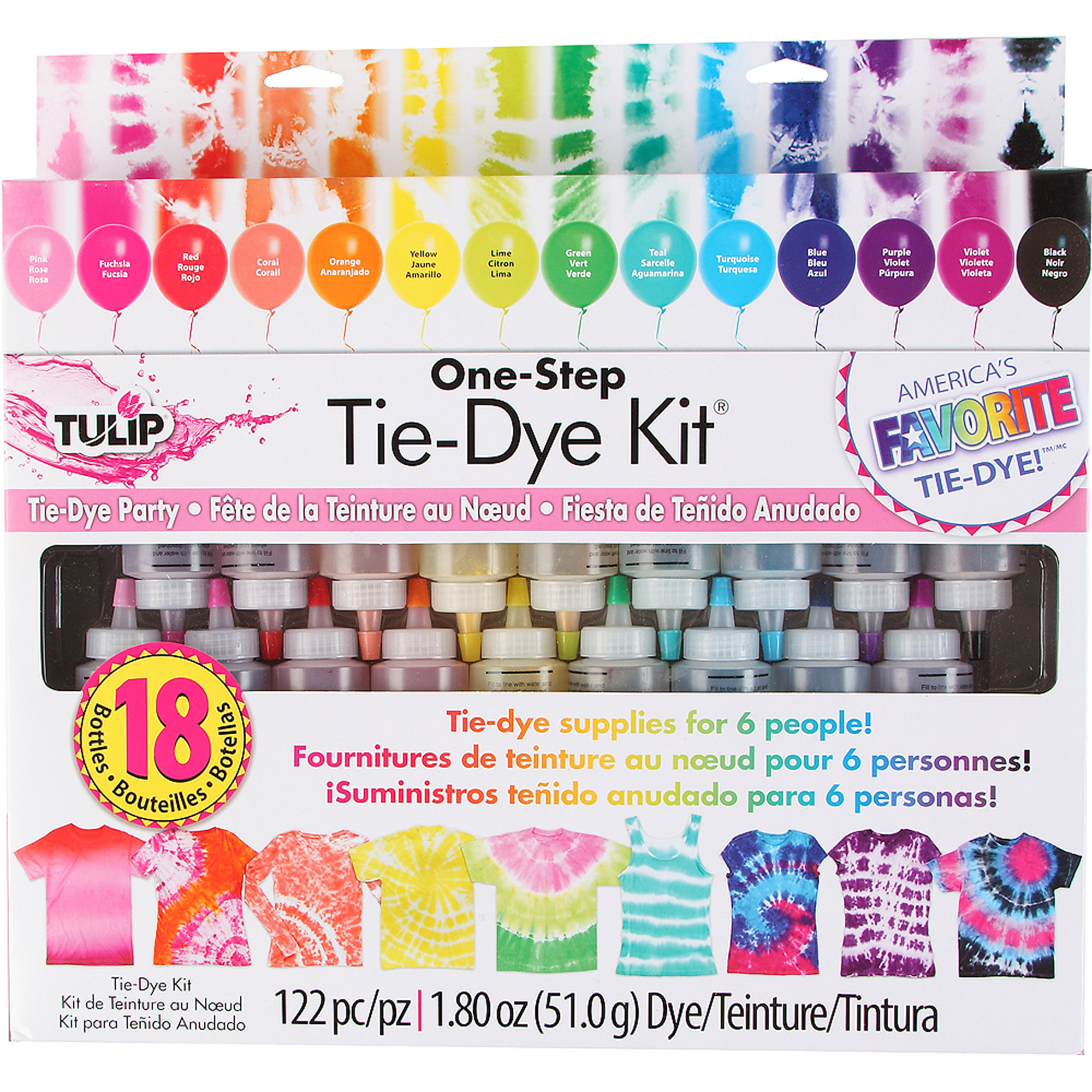 Tulip 1-Step 18-Bottle Tie-Dye Kit