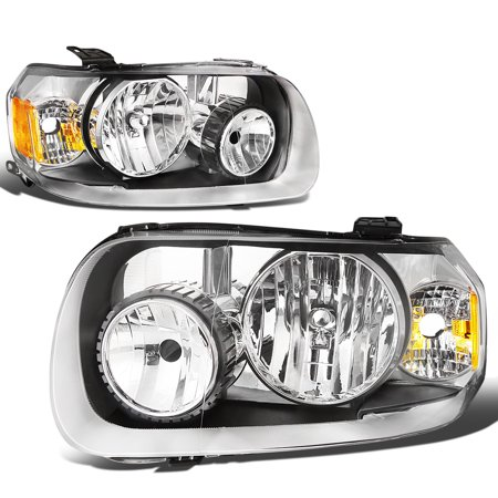 For 05-07 Ford Escape Pair of Replacement Headlight Chrome Housing Amber Corner Headlamp 1st gen 06 Left+Right