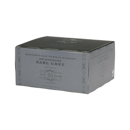Harney & Sons, Decaf Earl Grey, Decaffeinated Black Tea with Oil of Bergamot, 50 Ct - Earl Of Grantham