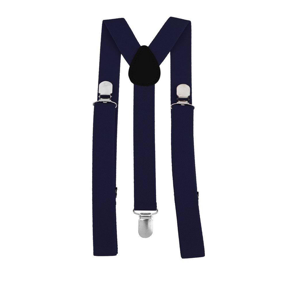 Unisex Men Women Brace Y-shape Retro Elastic Adjustable For Suspender New Blue