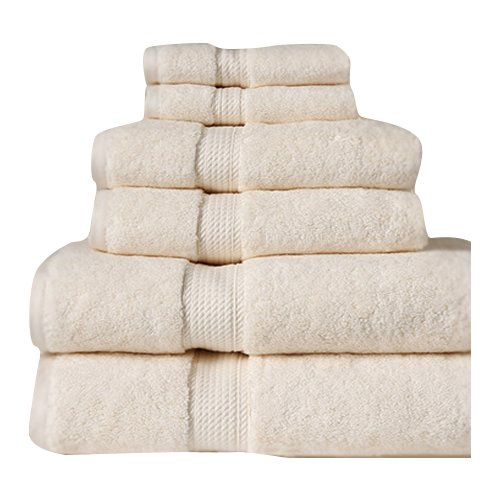 Cathay Home, Inc Luxe Pure Quality Cotton 6 Piece Towel Set
