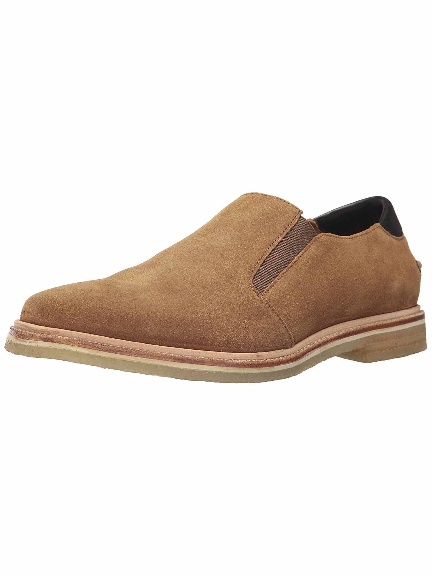 Tommy Bahama Mens Linen Leather Slip-On Loafer (Tabacco, 9) by