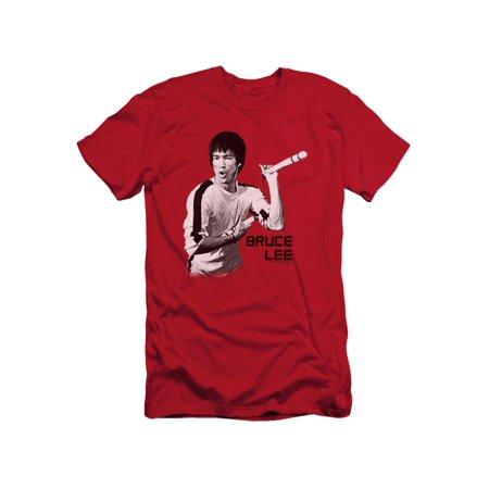 Bruce Lee Martial Arts Nunchucks Adult Slim T-Shirt Tee - Nunchucks Martial Arts