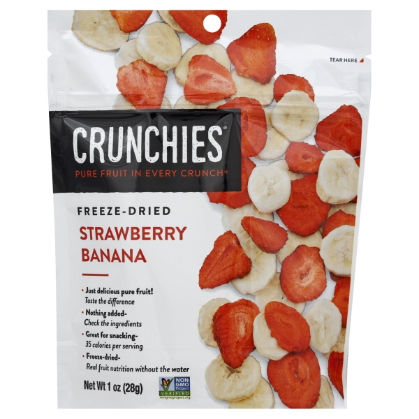 Crunchies Food Crunchies Strawberry Banana, 1 oz
