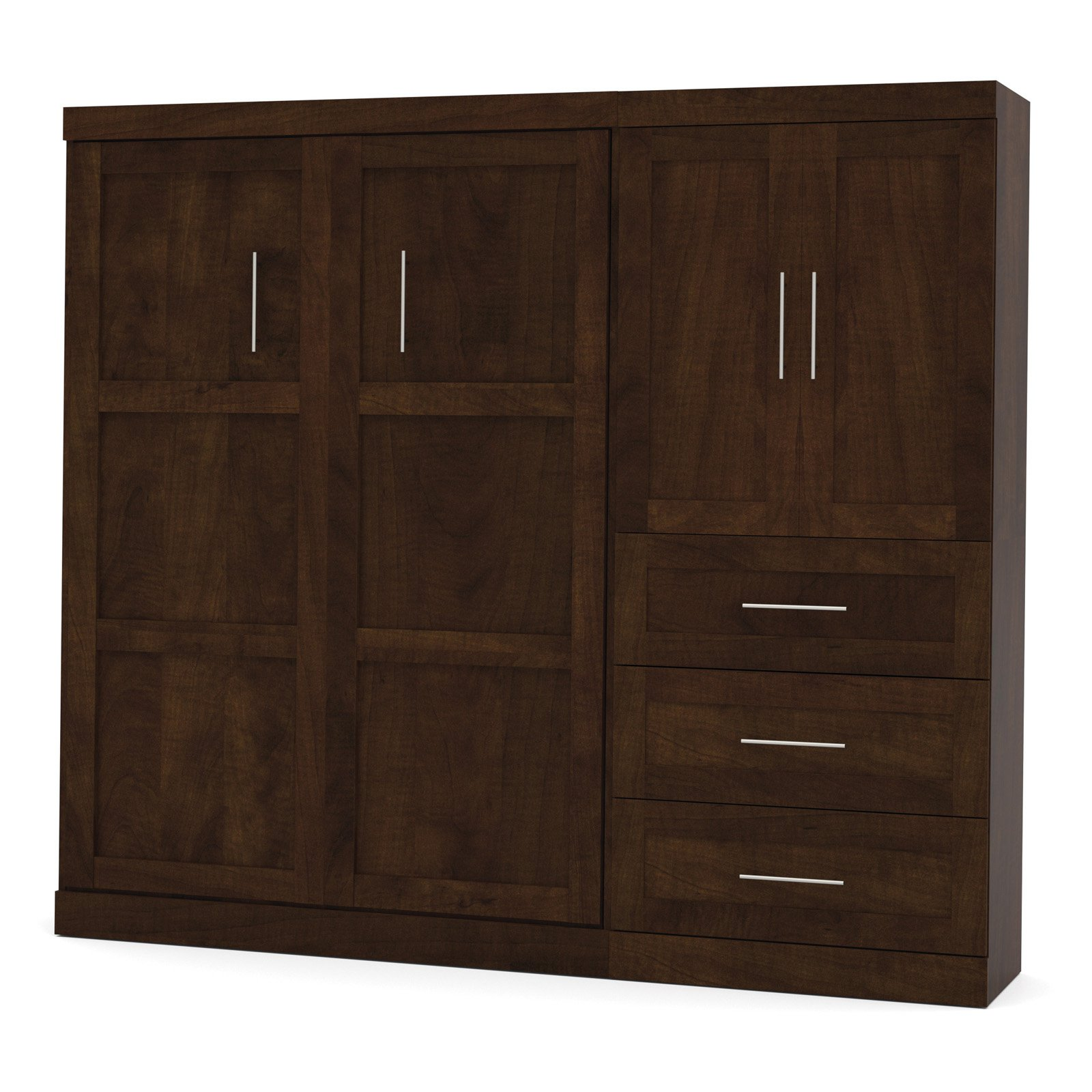 Bestar Pur Murphy Wall Bed with Storage Options