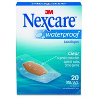 Nexcare Waterproof Bandages, One Size, 20 Count