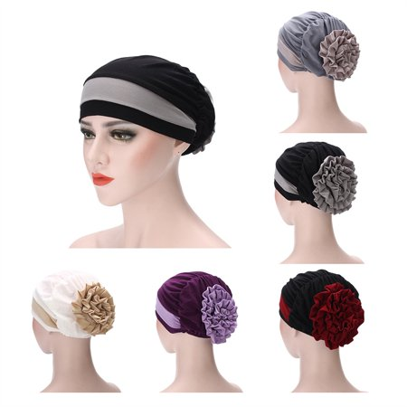 New Women Muslim Stretch Turban Hat Cancer Chemo Cap Hair Loss Head Scarf Wrap Cover - Funny Hats With Hair