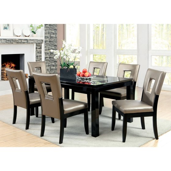 Furniture Of America Dubelle 7 Piece Formal Dining Set: Furniture Of America Rostiene Contemporary 7-Piece Mirror
