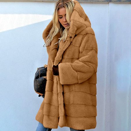 Women's Fashion Thickening Faux Fur Big Hooded Long Parka Coat Overcoat Winter Keep Warm Peacoat Jacket