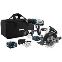 HART 3-Tool 20-Volt Cordless Combo Kit with and 16-inch Storage Bag, (1) 1.5Ah (1) 4.0Ah Lithium-Ion Batteries
