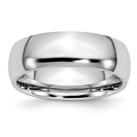 Mia Diamonds Cobalt Polished 7mm Wedding Engagement Band Ring Size - 12.5 7mm Diamond Designer Band