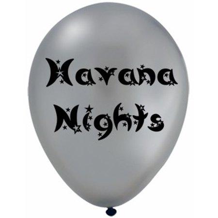 Havana Nights Latex  Party Balloons Pack of 12](Havana Nights Theme Party)