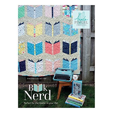 - Angela Pingel Designs- Book Nerd Quilt Pattern, Finished size 54