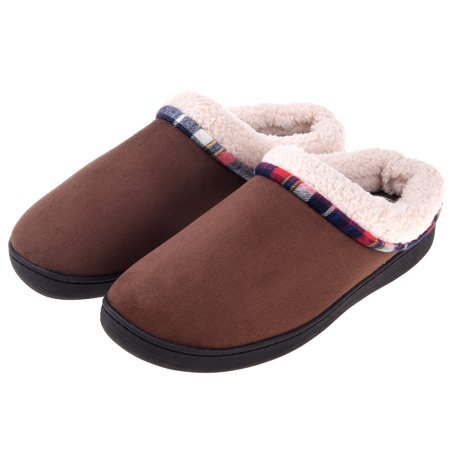 Men's Slippers Cozy Fuzzy Wool-Like Comfy Memory Foam Breathable Warm Slip on Clogs House Shoes Indoor/Outdoor Anti-Slip Sole Dansko Mens Clogs