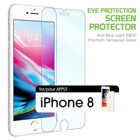 reputable site 18d23 69b0c iPhone 8 Eye Protection Screen Protector, Anti-Blue Light (HEV) Premium  Tempered Glass Screen Protector for Apple iPhone 8 / 7 / 6s / 6 by Cellet