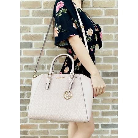 Michael Kors Ciara Saffiano Large Top Zip Satchel Ballet Pink MK Signature Dooney & Bourke Top Zip Wallet