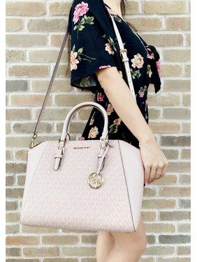 97a67e070390c9 Product Image Michael Kors Ciara Saffiano Large Top Zip Satchel Ballet Pink  MK Signature