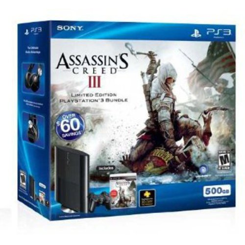 PlayStation 3 500GB Assassin's Creed III Limited Edition Bundle