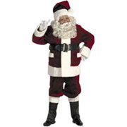 Halco 5691 Burgundy Deluxe Santa Suit with Outside Pockets