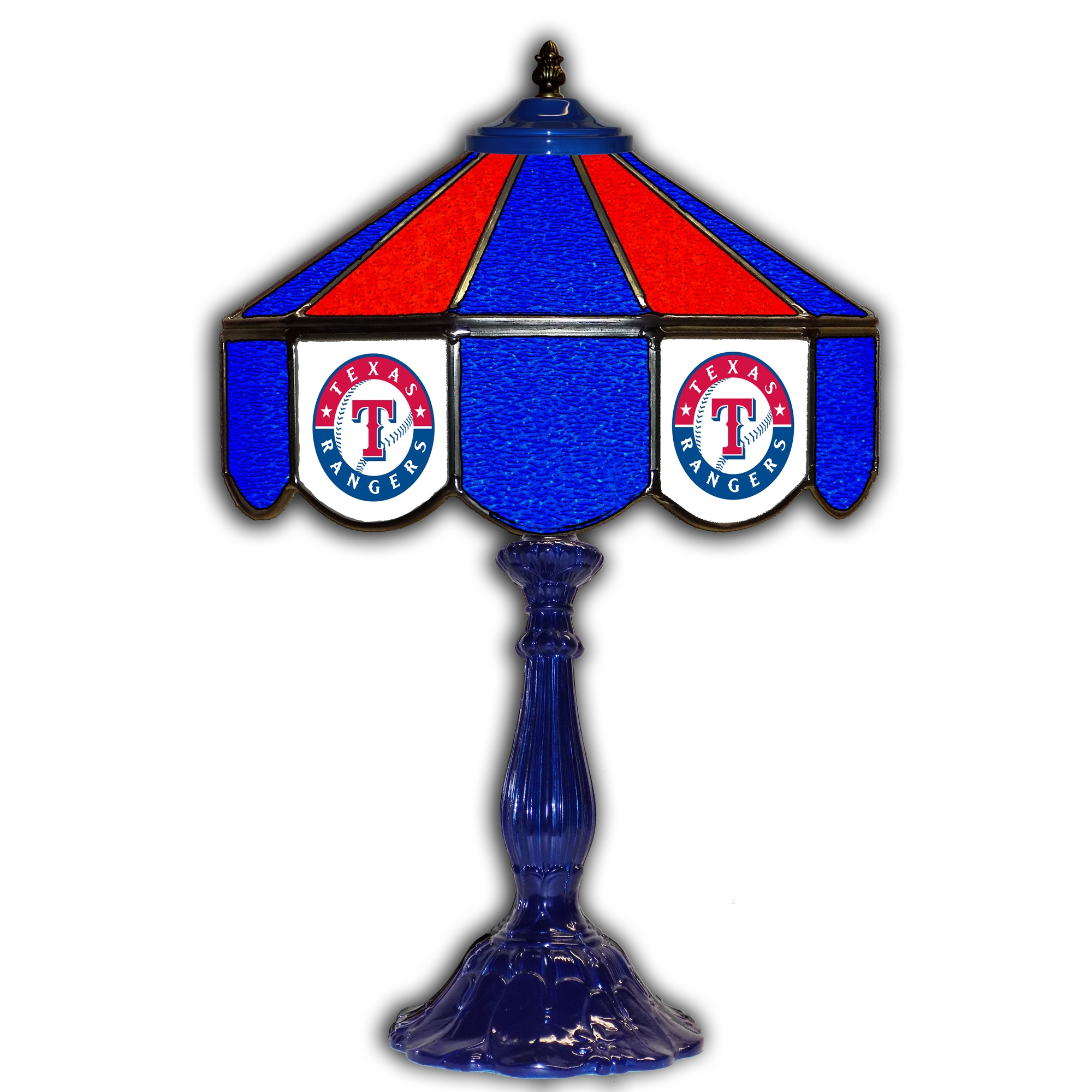 Texas Rangers 21 Glass Table Lamp Walmart Com Walmart Com