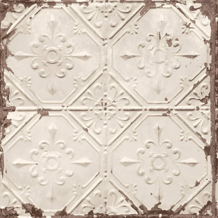 A-Street Prints Tin Ceiling Distressed Tiles Wallpaper