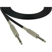 1Pc Sescom SC3SS Audio Cable Canare Star-Quad 1/4 TS Mono Male to 1/4 TS Mono Male Black - 3 Foot