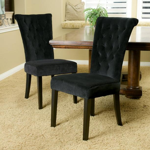 Noble House Bellagio Black Velvet, Black Velvet Dining Room Chairs