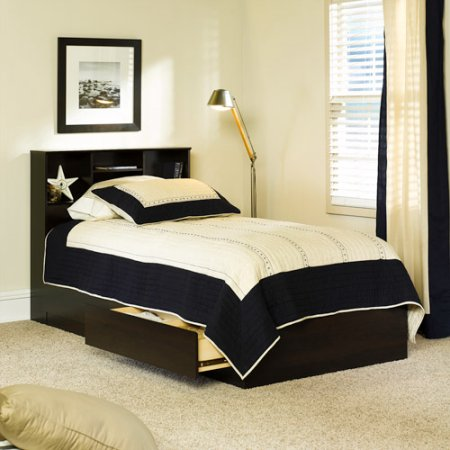 Mainstays Twin Bed With Storage Cinnamon Cherry Box 2 Of 2