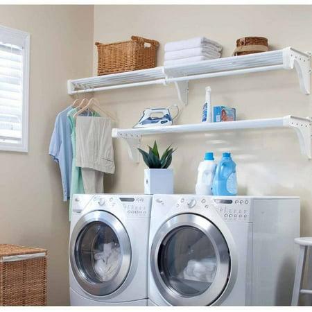 Ez Shelf Expandable Laundry Room Shelving Kit Wall Mount