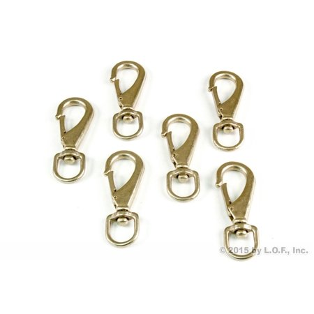 QTY 6 Round Swivel Eye Quick Snap Hook Lobster Claw Clasp Purse Ring for Strap 3/4